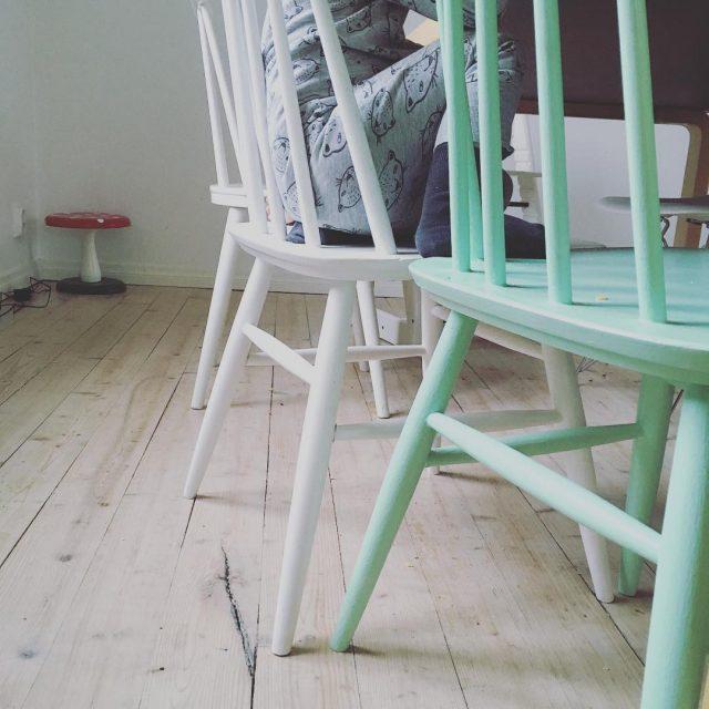 pinnatuolit minttu valkoinen chairs