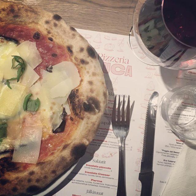 Ah niin hyv pizzerialuca pizzerialuca parmigiana pizza dinner tampere