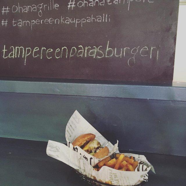 Vegeburgeri testiss hyv oli ja nuo potut ohanagrilleleipomo ohanaburger tampereenkauppahallihellip